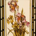 Iris - Victorian Stained Glass Window