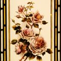 Roses - Victorian Stained Glass Window