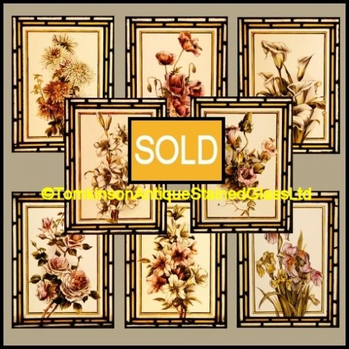Victorian Antique Stained Glass Windows