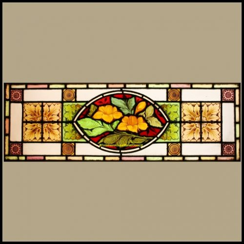 Victorian Transom Stained Glass