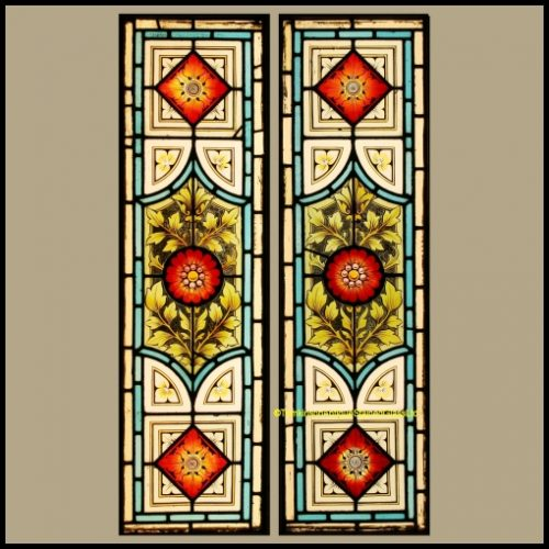 Pair of Victorian Door Panels