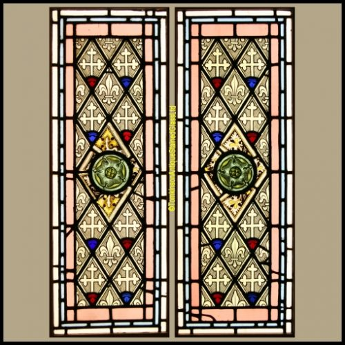Grisaille stained glass windows