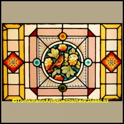 Hand Painted Stained Glass Window