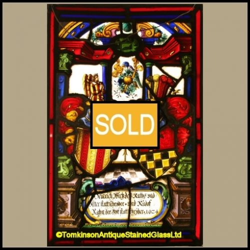Swiss Stained Glass Panel