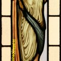 Pre-Raphaelite Maiden Stained Glass