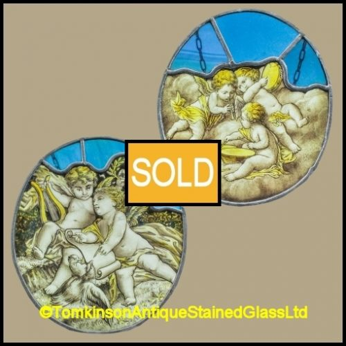 Cherub Stained Glass Panels