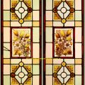 Antique Stained Glass Door Panels