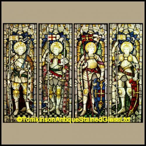 Archangels stained glass windows