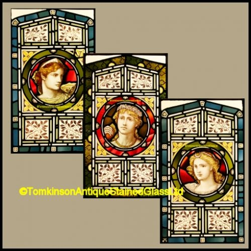 Classical Maidens Stained Glass Windows