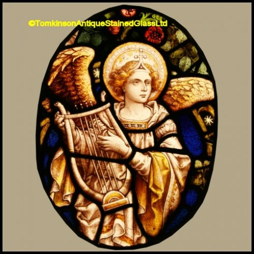 Musical Angel Stained Glass