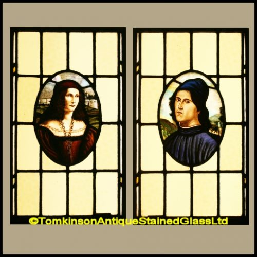 Paolo and Francesca Stained Glass Windows