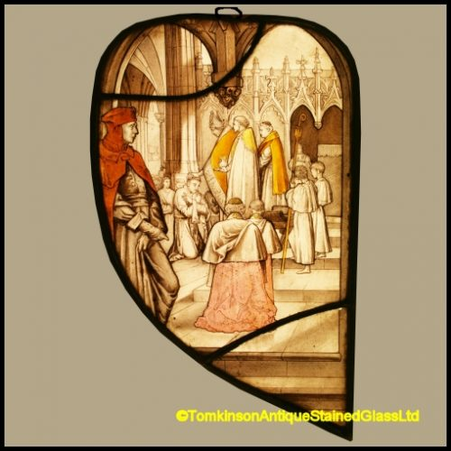 Holy Orders Stained Glass Panel