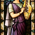 Pre-Raphaelite Stained Glass Window