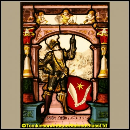 Swiss Armorial Stained Glass
