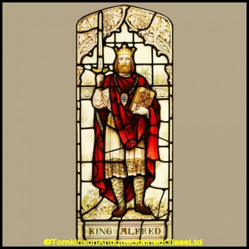 King Alfred Stained Glass Window