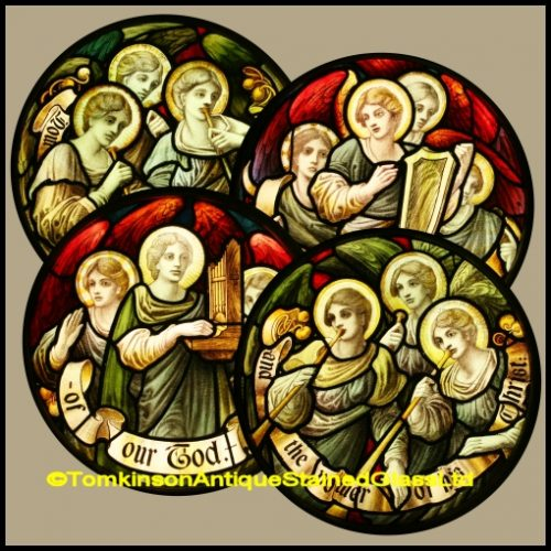 Musical Angels Stained Glass Windows