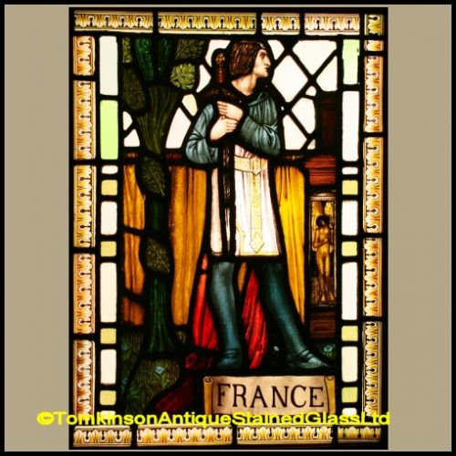 Joan of Arc Bernard Sleigh Stained Glass
