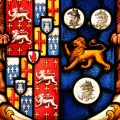 Antique Stained Glass Coat of Arms