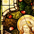 Antique Stained Glass Window by Heaton, Butler & Bayne