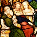 Saint Paul before Porcius Festus, King Herod Agrippa and his sister Berenice Stained Glass Window