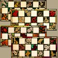 Set of Four Stained Glass Windows