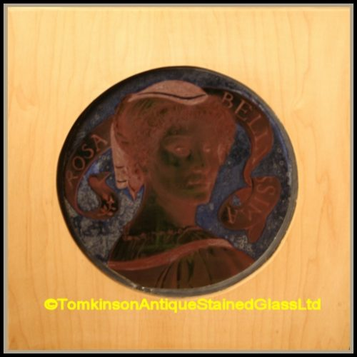 Victorian Stained Glass Roundel
